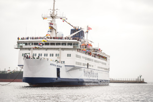 Mercy Ships has arrived into Port of Dakar, Senegal